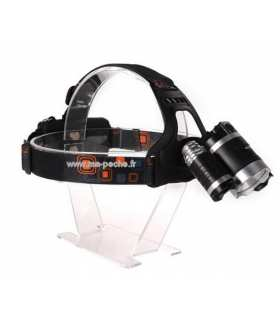 Lampe frontale 3 phares