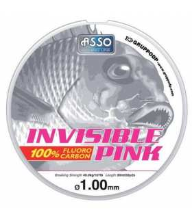 ASSO - FLUOROCARBONE INVISIBLE PINK 30 M