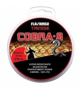 FLASHMER - TRESSE COBRA 8 BRINS GRISE 135M