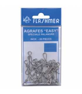 FLASHMER - AGRAFES EASY INOX POUR PALANGRE PAR 20