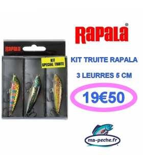 RAPALA - KIT TRUITE 3 LEURRES 3CM
