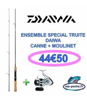 DAIWA - Ensemble Canne Samurai 1m80 + moulinet Sweepfire E 2000 C
